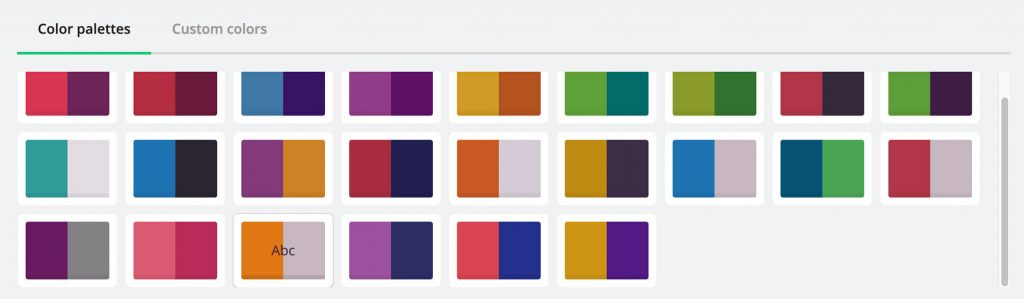 Test de Biteable : modifier la palette de son motion design