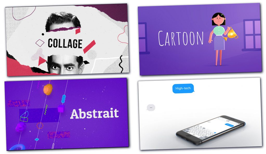 Test de Biteable : quelques exemples de styles de motion design